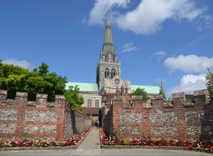 Chichester Cathedral from St. Richard's walk