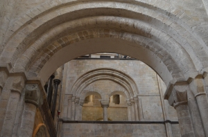 Romanesque arches at the West End